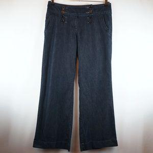Apt 9 Jeans Wide Leg Dark Wash Trouser Sailor